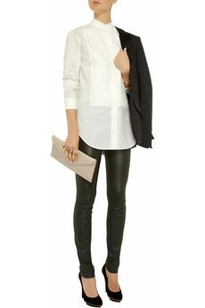 Pleated cotton shirt by McQ Alexander McQueen