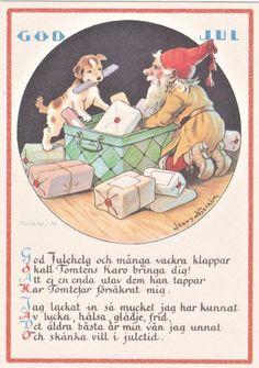 JUL KORT / JENNY NYSTRÖM (368494349) ᐈ Köp på Tradera Christmas Cards, Christmas E Cards, Christmas Card Sayings, Christmas Greetings, Merry Christmas Card