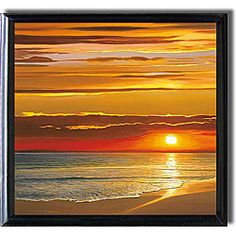 @Overstock - Artist: Dan Werner   Title: Sunset on the Sea  Product Type: Framed Art Printhttp://www.overstock.com/Home-Garden/Dan-Werner-Sunset-on-the-Sea-Black-framed-Canvas-Art/4393277/product.html?CID=214117 $155.99