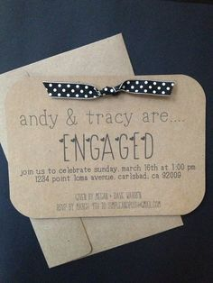 Simple Engagement Party Invitation or Save the by SimpleandPosh