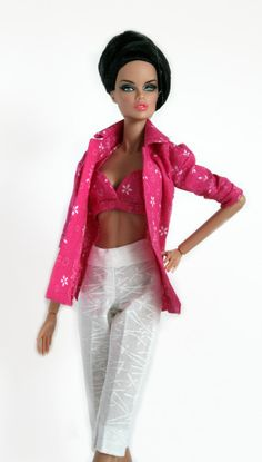 Hot Pink Beach Set for Barbie Silkstone by ChicBarbieDesigns