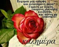 Beautiful Pink Roses, Beautiful Love, Good Morning Good Night, Good Morning Quotes, Good Morning Messages Friends, Greek Words, Greek Quotes, Faith In God, Icons