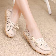 Ucuz 9 Renk Artı Boyutu Moccasins Kadın Loafer'lar Nefes Rahat Sürüş Ayakkabı Kadın Daire El Yapımı Ayakkabı Kadın, Satın Kalite kadın daireler doğrudan Çin Tedarikçilerden:                                                         &nbs