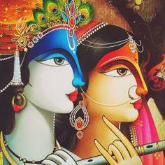By Reena kapoor Radha Krishna Pictures, Krishna Art, Radhe Krishna, Lord Krishna, Shree Krishna, Hanuman, Ganesha Painting, Buddha Painting, Art Buddha
