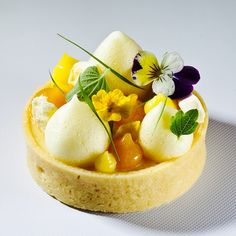 Art de la table - Tarte aux fruits de la passion