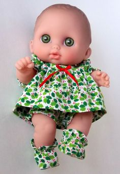 Perfect for Christmas Four Piece Outfit for Lil' Cutesie Dolls by mothergoosedolls, $12.00y