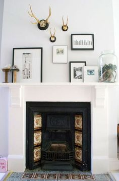 white painted fire surround - Google Search