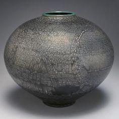 Oregon Potters 1Fave Vase Naked Raku  Jim Wylder