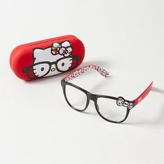 For the geek-chic gal: Nerdy Hello Kitty Frames with matching case