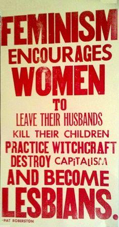 En pleine folie américaine des années 30, cette affiche contre le féminisme ne fait pas dans la dentelle: Le féminismeencourage les fe...