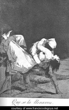 Caprichos  Plate 8  They Carried Her Off - Francisco De Goya y Lucientes - www.franciscodegoya.net