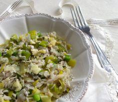Rosenoisettes, Calme et Gourmandises...: Risotto de printemps aux poireaux et petits-pois