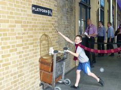 Put on a Harry Potter scarf and have a picture taken at platform 9 3/4 in Kings Cross!