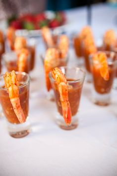 Shrimp Cocktail Shooter Appetizers | Stono Cafe & Catering | Karson Photography https://www.theknot.com/marketplace/karson-photography-charleston-sc-277724