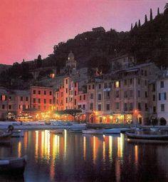Portofino at sunset