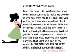 Moriah, Raquel, & Cire-Wait for God's perfect husband for you. Don't settle and don't give in to someone that 's not anointed for you. Wait on God and He will blow your mind.