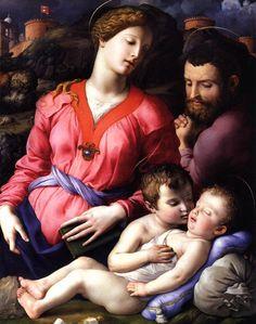 Agnolo Bronzino, Heilige Familie, c.  1540, olie op hout, 117 x 93 cm, Galleria degli Uffizi, Florence