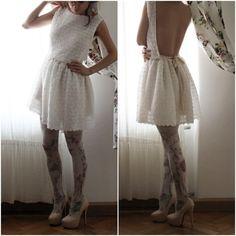 Spitze Rückenfreies Kleid