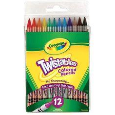 Crayola Twistables Colored Pencils, 12 Assorted Colors/Set