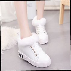 49.90$  Watch now - http://ali455.worldwells.pw/go.php?t=32771319894 - White children Maomao shoes Ladies Pink Beige short  students winter shoes thick soled  loose boots 49.90$