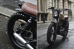 The 'new' Yamaha is a mighty fine looking bike straight off the showroom floor, but the English workshop Auto Fabrica shows what a few tweaks can do. Custom Cafe Racer, Cafe Racer Build, Yamaha Sr400, Sr400 Cafe, Sr500, Retro Bike, Scrambler Motorcycle, Ducati Scrambler, Street Tracker