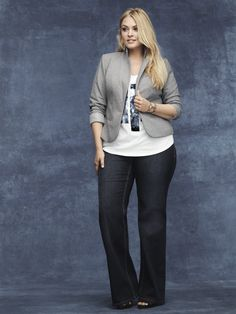 Our Trouser Jean: Perfectly polished and all dressed up #LaneBryant