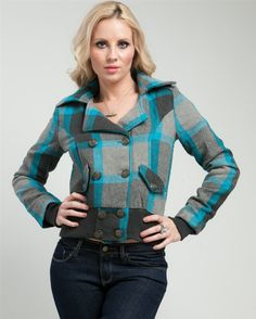 Teal Double-Breasted Wool Jacket | Glowbees Spring 2014