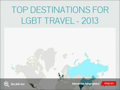 Infographic: Top destinations for lgbt travel - 2013 #LGBT #travel www.DreamVacationsKC.Com
