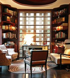 A library in a home in New Delhi designed by Jean-Louis Deniot