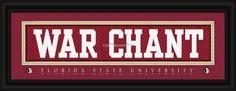 "Florida State University ""WAR CHANT"" Stitched Uniform Framed Print - ncaa-sup-fl-state""War-Chant"""