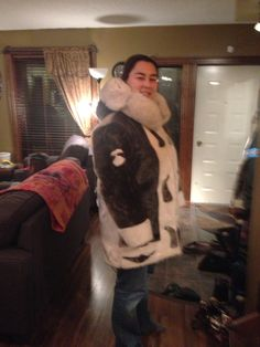 My hand sewn sealskin coat (made by me!)