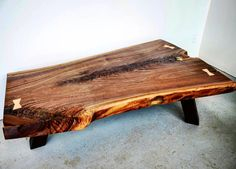 #throwbackthursday to one of last years favourite coffee table projects.  This was a stunning live edge walnut piece with tons of interesting grain and colour.  It ended up at a clients Collingwood ski chalet.  We have another chunky live edge walnut coffee table on the go at the shop that will be available for sale - will post pics when it is ready to go.