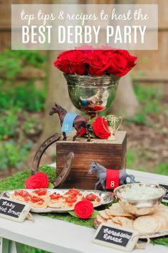 Tips & Recipes to Host the Best Derby Viewing Party the Best ideas and recipes for hosting a Kentucky Derby party are right here.the Best ideas and recipes for hosting a Kentucky Derby party are right here. Horse Racing Party, Horse Party, Race Party, Party Party, Cowboy Party, Cowboy Birthday, 7th Birthday, Happy Birthday, Kentucky Derby Food