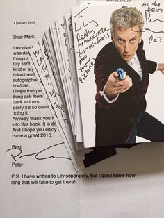 Letter from Peter Capaldi with the mass of signed cards (c) Mark J Simmons