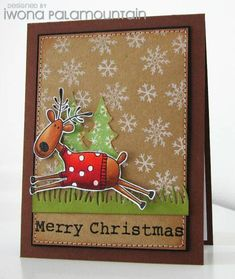 A happy reindeer by Chupa - Cards and Paper Crafts at Splitcoaststampers