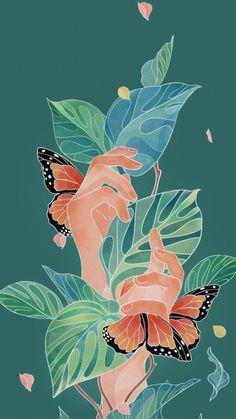 Flower – Tap to see Phone Backgrounds, Wallpaper Backgrounds, Lock Screen Wallpaper, Aesthetic Art, Cute Wallpapers, Aesthetic Wallpapers, Art Inspo, Watercolor Art, Art Drawings