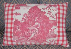 Antique French Toile de Jouy  Nantes  Pillow  by FromAFrenchAttic, £42.00