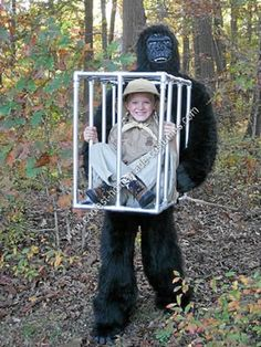 I made this Halloween Homemade Captured Gretel in a Cage Costume to wear at my daughter's school. I wanted something scary but not too scary for children