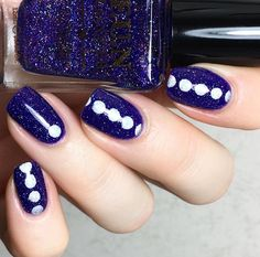 In love with this classy manicure by @thehanninator using our Polka Dot Nail Stencils found at snailvinyls.com