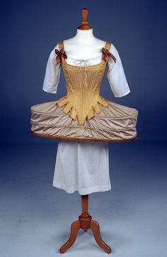 Corset and panniers, 18th century. From the Louisiana Art & Science Museum.