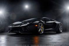Image Buildup: Matte Black Lamborghini Aventador | motivelife