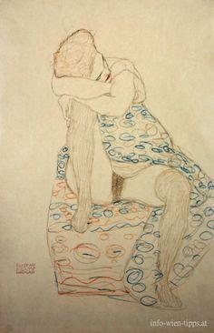Gustav Klimt, Study, 1910