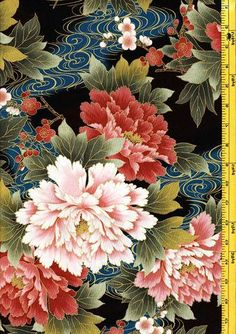 Beautiful Asian inspired fabrics from Kona Bay. Japanese Painting, Chinese Painting, Floral Pattern Wallpaper, Fabric Outlet, Oriental Flowers, Chinoiserie Wallpaper, Chrysanthemums, Japanese Patterns, Flower Patterns