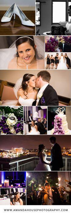 Purple and black wedding color scheme