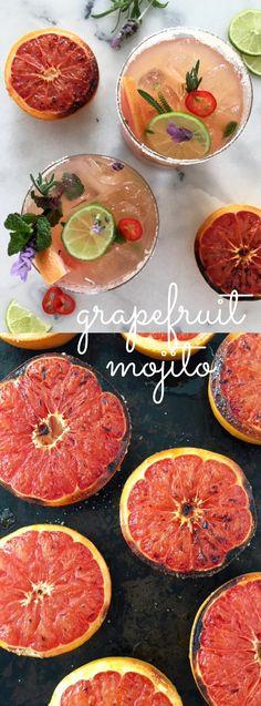 Grapefruit Mojito with broiled grapefruit and chile | CiaoFlorentina.com