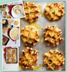Potato Waffles - Make em', squish em', top em', bake em' :)