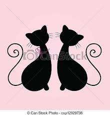 """Résultat de recherche d'images pour """"silhouette chat stylisé"""""""