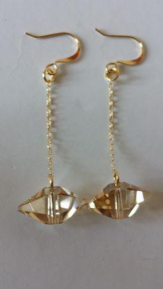 Jean Paul Gaultier Swarovski Golden Shadow Drops - E956 b14548931