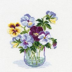 RIOLIS-Counted Cross Stitch Kit. Express your love for arts and crafts with these beautiful cross stitch kits! Find a themed kit for any taste! This package contains 16 count flaxen evenweave fabric f