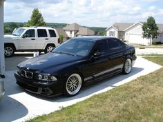 my daily commuter. e39, bbs lm, tint, euro side markers.